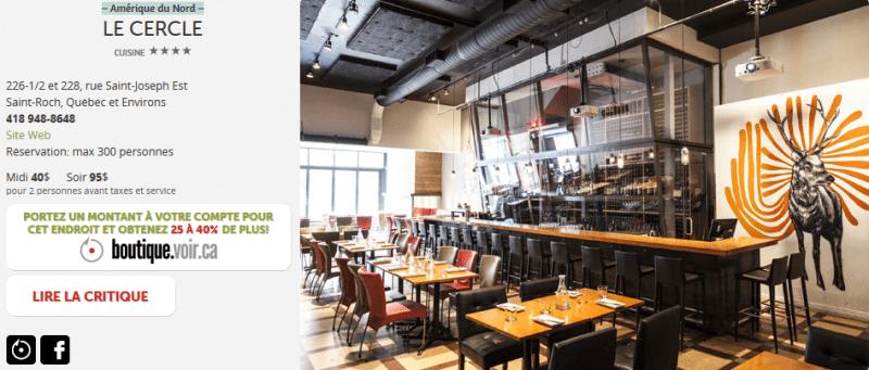 Informations sur le restaurant