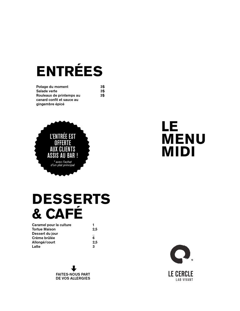 Desserts du restaurant